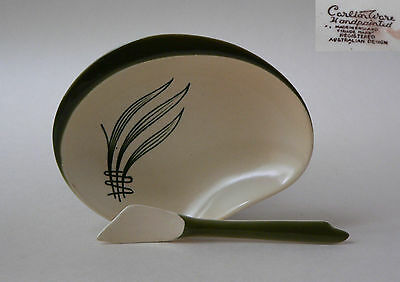 Carlton Ware, Handpainted, Windswept Range, Small Serving Dish With Spoon, Green
