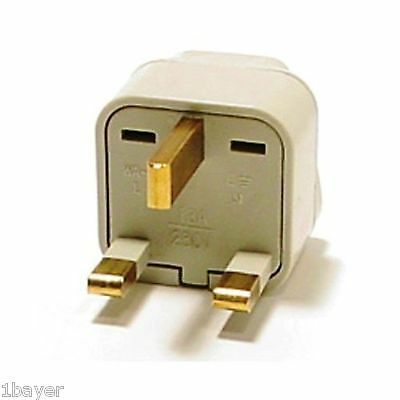 VCT Universal Wall Outlet Plug Port Power Charger UK 3-Prong Travel Tour Adapter