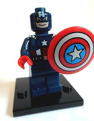 Captain America Minifigure - new in bag - Lego compatible figurine figure