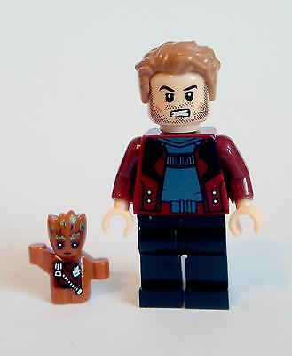 Star-Lord + Baby Groot Minifigure - Guardians ot Galaxy - Lego compatible figure