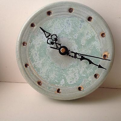 Vintage Porcelain Quartz Wall Clock by GA Hart of Chesterfield