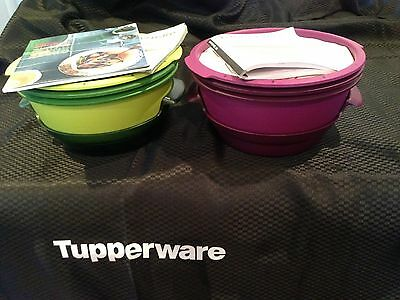 2  New Tupperware Microsteamers