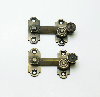"1.96"" inches Lot of 2 pcs Vintage BOX Door LATCH HOOK Solid Brass"