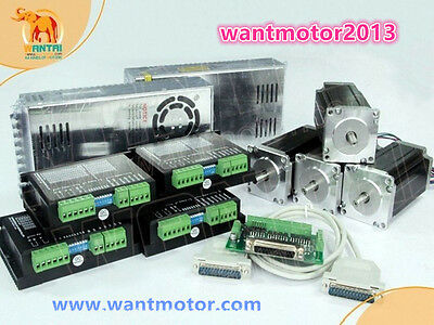 Wantai 4Axis Stepper Motor Nema23 57BYGH627 3A 270oz-in+drivers+350W CNC