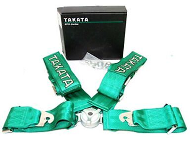 """2 x TAKATA 3"""" quick release seat belts 4 points - Twin Pack - Racing Harness"""