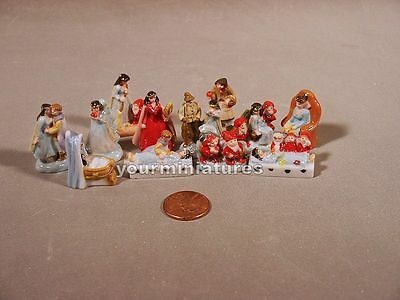 Porcelain Miniatures Snow White and the 7 Dwarfs Set French Feves Unusual