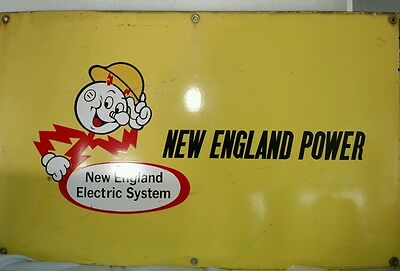 PORCELAIN Reddy Kilowatt NEW ENGLAND POWER, New England Electric System 34 by 21