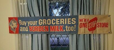 Borden Milk Canvas Sign