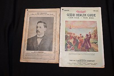 LOT OF 2 Vintage RAWLEIGH INDUSTRIES, CATALOG & GUIDE, 1912 & 1933