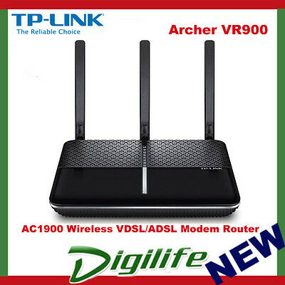 TP-Link Archer VR900 AC1900 Wireless VDSL/ADSL Modem Router NBN Ready