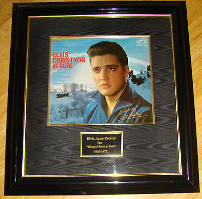 ♫ ELVIS PRESLEY Framed and Matted Original - Authentic 1970's AUTOGRAPH  ♫