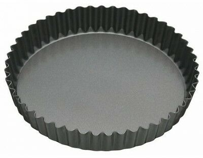 KitchenCraft Master Class Fluted Flan Tin/Quiche Pan with Loose Base - 20 cm (8