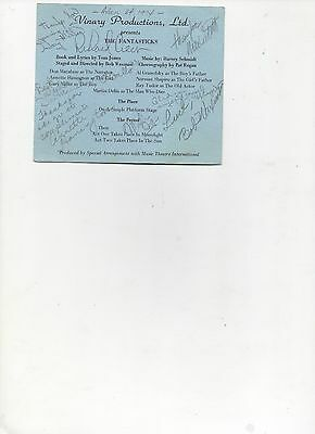 Playbill The Fantasticks Cast Signed Autograph 1974