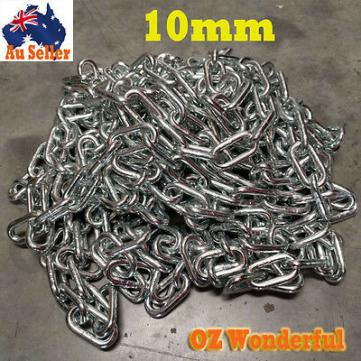 Galvanised Chain 10mm Zinc Coated Chain Linked Chain Anchor Welded Hot Dipped