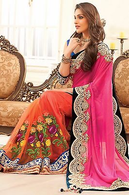 Pakistani Indian Bollywood Ethnic Designer saree Bridal Traditional New saribf31