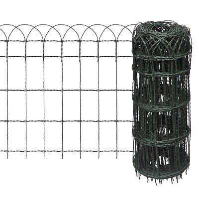 # New 25x0.65m Expandable Mesh Fence Garden Edging Border Iron Wire Chain Fencin