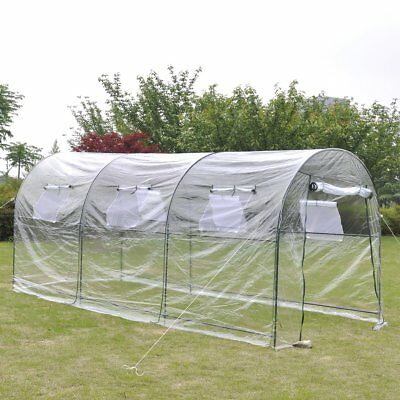 # Garden Greenhouse PVC Cover Walk in Green Shade Plant Hot House Storage 4.5x2m