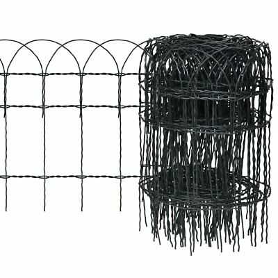 # New 25x0.4m Expandable Mesh Fence Garden Edging Border Iron Wire Chain Fencing