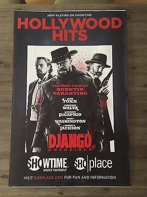 Django Unchained  SHOWTIME PROMOTIONAL WINDOW CLING POSTER