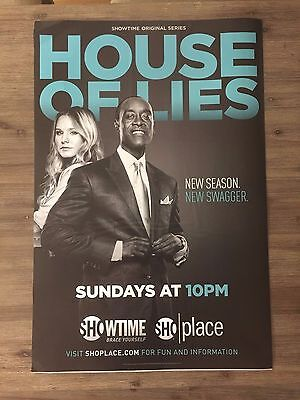 HOUSE of LIES DON CHEADLE KRISTEN BELL SHOWTIME PROMOTIONAL WINDOW CLING POSTER