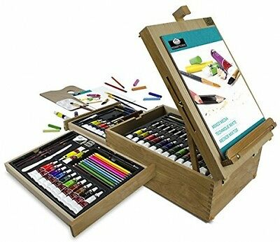 Royal and Langnickel All Media Easel Artist Set (104 Piece) drawing pencil