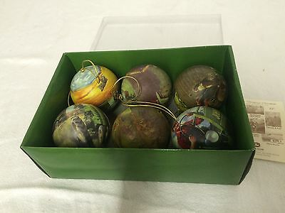 John Deere Collection ~ Christmas / Holiday Ornaments By Hinton Set Of 6