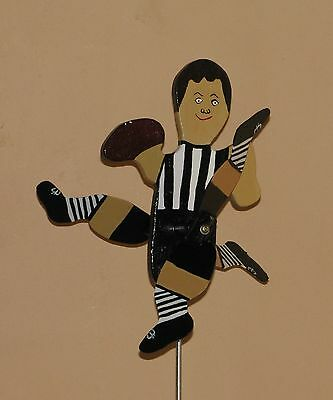 Collingwood Magpies Footy Player Whirligig With Spinning Legs