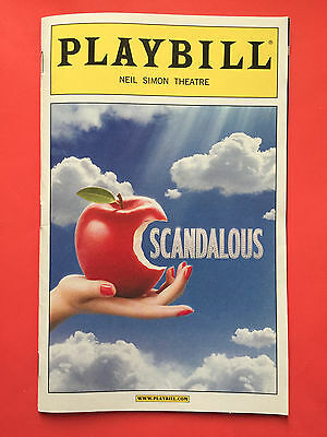 SCANDALOUS Playbill w/ CAROLEE CARMELLO (KATHIE LEE GIFFORD)