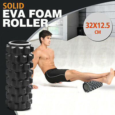 32x12.5cm EVA PHYSIO GRID TRIGGER POINT FOAM ROLLER YOGA PILATES MASSAGE GYM