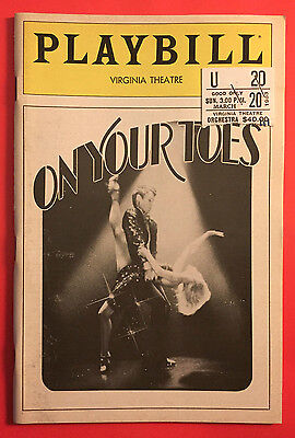 ON YOUR TOES Playbill w/ Natalia Makarova, George S. Irving, Christine Andreas