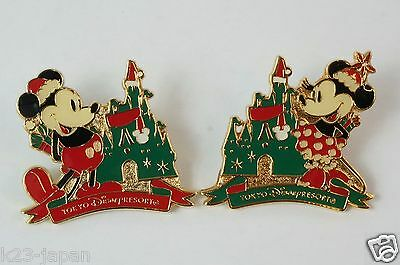 Tokyo Disney Resort Pin TDR Christmas 2014 Old Mickey & Old Minnie JAPAN
