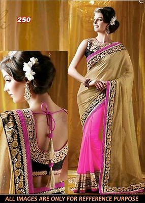 Pakistani Indian Bollywood Ethnic Designer saree Bridal Traditional New sari1015