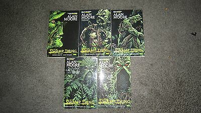 Saga of the swamp thing books 1,2,3,4 & 5 Alan Moore