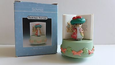 Schmid Beatrix Potter 1990 BENJAMIN BUNNY MUSIC BOX ~ Children's Marching Song