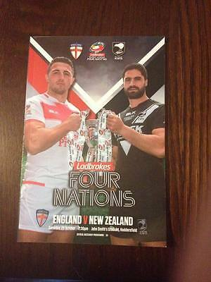 Four Nations Rugby League 2016 England vs New Zealand Programme