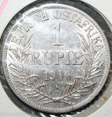 German East Africa 1906A  - 1 (One) Rupie Coin