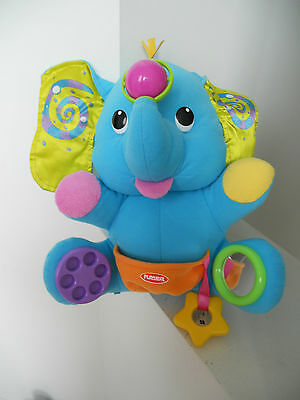 Large Playskool elephant activity Soft Cuddly Toy 8 Activities blue interactive