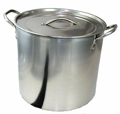 Large 15 Litre Stainless Steel Kitchen Catering Cooking Stock Saucepan Pot Pan