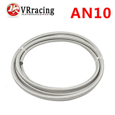 AN-10 AN10 14.3mm PTFE Stainless Braided Teflon Fuel Oil Line Hose 5 Meter/lot