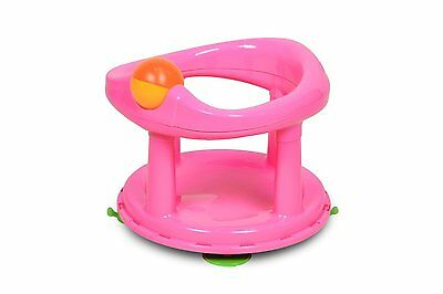Safety New  Baby Child Toddler 1st Swivel Bath Seat Extra Support - Pink