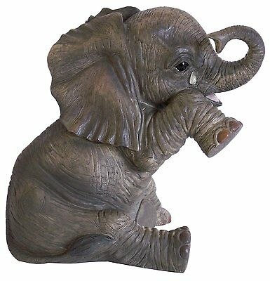 Crying Baby African Elephant Missing You Statue From Leonardo Out Of Africa
