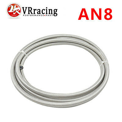 AN8 Double braided Stainless steel teflon fuel hose line AN8(ID:10MM,OD:15MM) 5m
