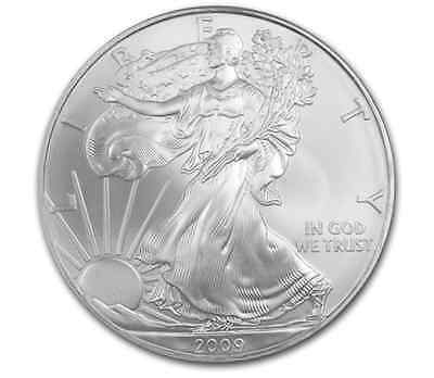 1 oz 2009 American Eagles Silver Bullion Coin 99.99% (X1) Uncirculated