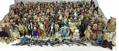 STAR WARS Vintage Huge Collection of 350+ Loose Figures and Weapons Kenner 1970s