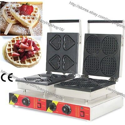 Commercial Nonstick Electric Heart Waffle Stick Mini Round Waffle Maker Machine