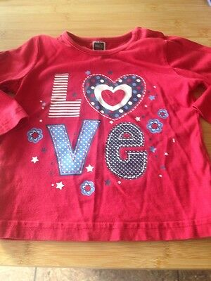 Girls Long Sleeved Top Age 9-12 Months