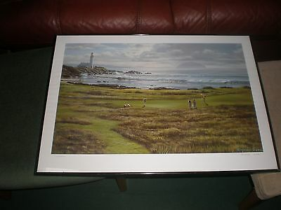 Turnberry Golf Picture- Raymond Sipos,large Print 50Cm X 70Cm In Frame