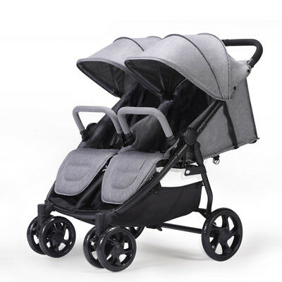 Baby Stroller Jogger City Twins Tandem Double Seat High View Folding Pushchair