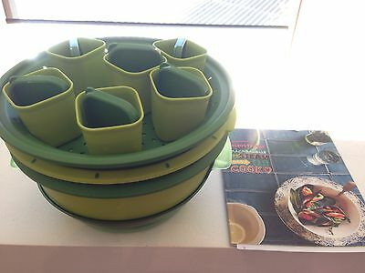 Tupperware Green Microsteamer With Book And Ramikens