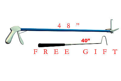 "48""inch S.S-Snake-Handle-Tongs-Snake-Catch-Snake-Catcher-Stick-With FREE GIFT"